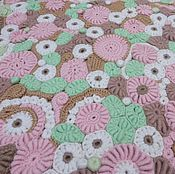 Для дома и интерьера ручной работы. Ярмарка Мастеров - ручная работа Ковер цветочный большой. Handmade.