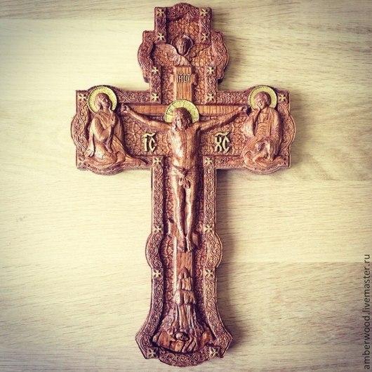 Иконы ручной работы. Ярмарка Мастеров - ручная работа. Купить Распятие. Handmade. Крест, Иисус Христос, православие, резьба по дереву