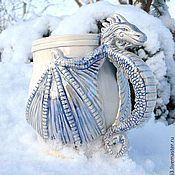 """Посуда ручной работы. Ярмарка Мастеров - ручная работа Кружка """" Снежный Дракон"""". Handmade."""