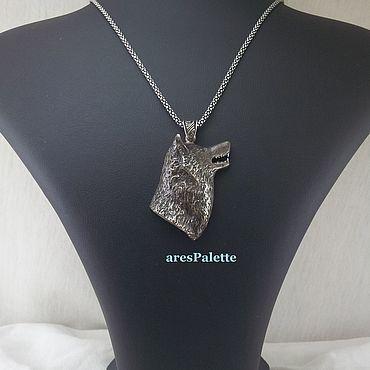 Украшения ручной работы. Ярмарка Мастеров - ручная работа Silver Wolf Necklace. Handmade.