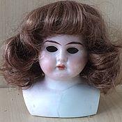 Куклы винтажные ручной работы. Ярмарка Мастеров - ручная работа Антикварная кукла фарфоровая голова бюст. Handmade.