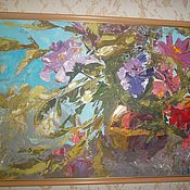 Pictures handmade. Livemaster - original item Painting flowers 40/60