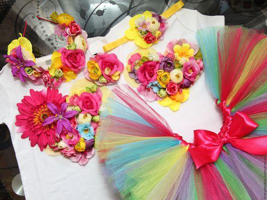 Одежда для девочек, ручной работы. Ярмарка Мастеров - ручная работа. Купить Комплекты на годовасие. Handmade. Комбинированный, боди, пышная юбочка