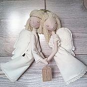 Куклы и игрушки ручной работы. Ярмарка Мастеров - ручная работа Интерьерная текстильная кукла Ангелы-неразлучники. Handmade.