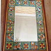 """Для дома и интерьера ручной работы. Ярмарка Мастеров - ручная работа зеркало с изразцами """"Изумрудное"""". Handmade."""