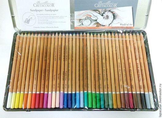 Другие виды рукоделия ручной работы. Ярмарка Мастеров - ручная работа. Купить Пастельные карандаши 36 цветов в метале. Creta Color. Handmade.