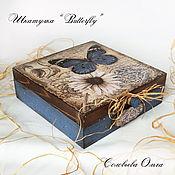 """Для дома и интерьера ручной работы. Ярмарка Мастеров - ручная работа Шкатулка """"Butterfly"""". Handmade."""