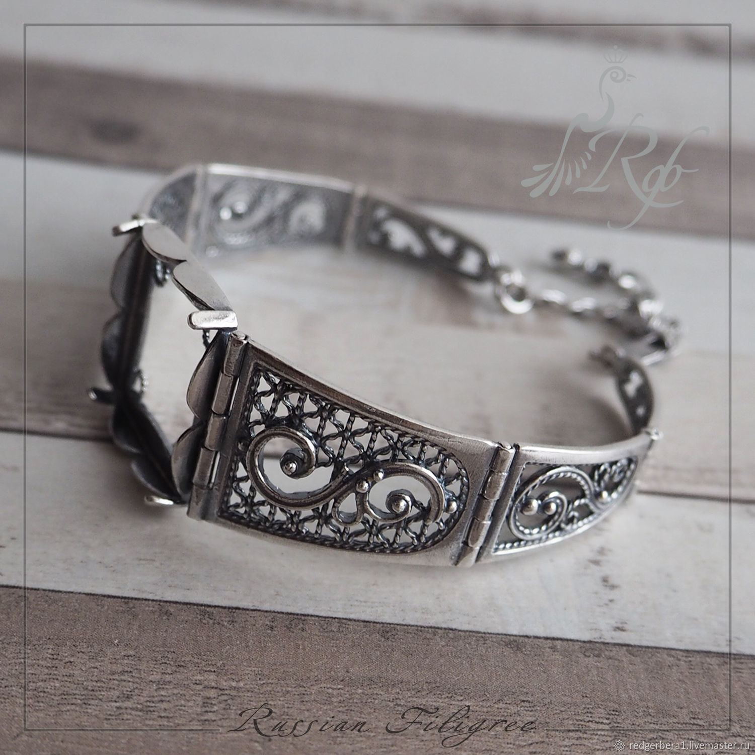 Base for bracelet 'Nafisa' (20 mm) silver, Russia, Blanks for jewelry, Kostroma,  Фото №1