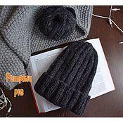 Аксессуары handmade. Livemaster - original item Dark gray men`s hat