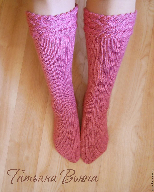 Купить Осенние костры. Гольфы вязаные, вязаные носки ...
