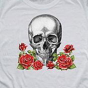 Одежда handmade. Livemaster - original item T-shirt copyright print,