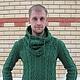 Кофты и свитера ручной работы. Ярмарка Мастеров - ручная работа. Купить Мужской пуловер со снудом по мотивам D&G. Handmade.