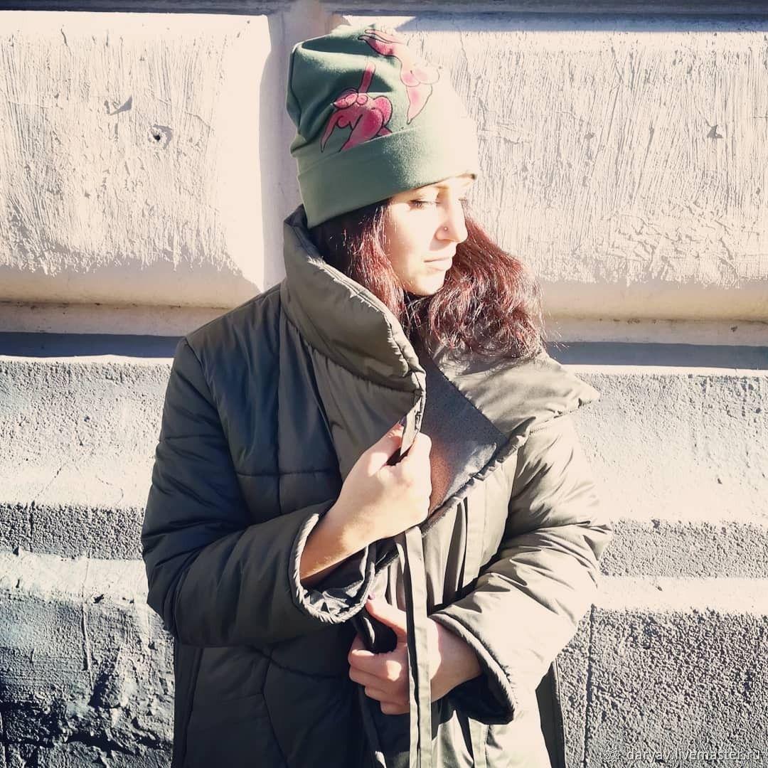 Jacket-blanket Warm & Sexy NeoClassic khaki with belt, Down jackets, St. Petersburg,  Фото №1