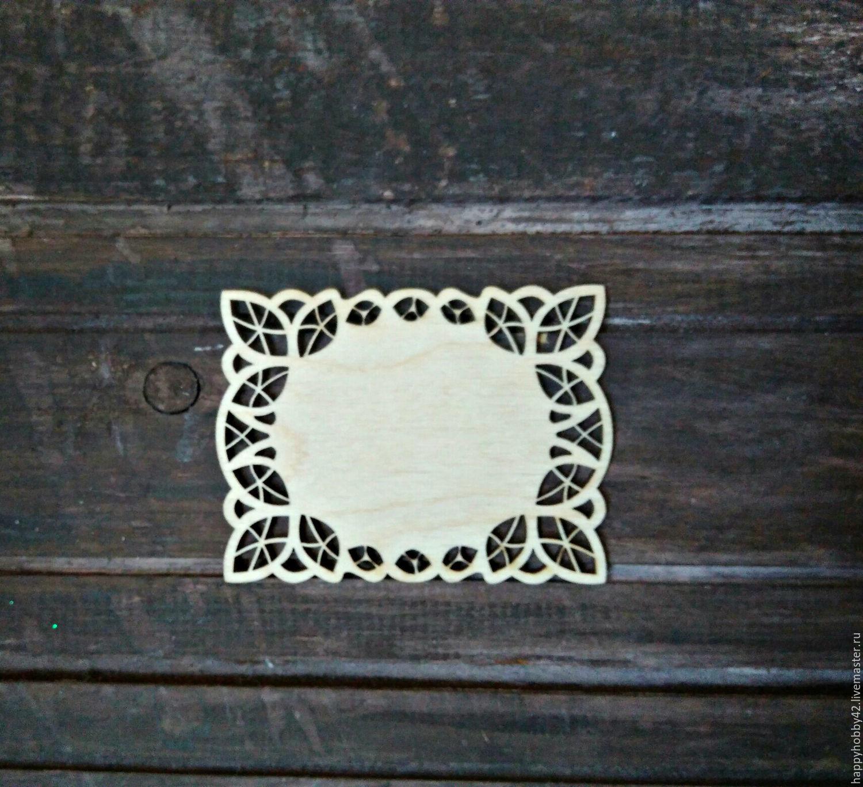 Бирка ажурная №3 декоративный элемент, Элементы для декупажа и росписи, Кемерово,  Фото №1