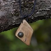 """Украшения ручной работы. Ярмарка Мастеров - ручная работа деревянная подвеска """"Очень просто"""". Handmade."""