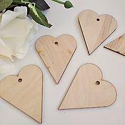 Материалы для творчества handmade. Livemaster - original item Heart. Figure for decoration made of plywood 3 mm.. Handmade.