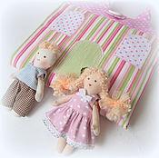 Куклы и игрушки ручной работы. Ярмарка Мастеров - ручная работа Домик-сумочка для куколки полоска и горошек. Handmade.