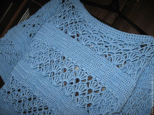 Кофты и свитера ручной работы. Ярмарка Мастеров - ручная работа. Купить Туника вязаная крючком Голубая пролеска. Handmade. Голубой