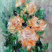 Картины и панно ручной работы. Ярмарка Мастеров - ручная работа Оранжевый хоровод. Handmade.
