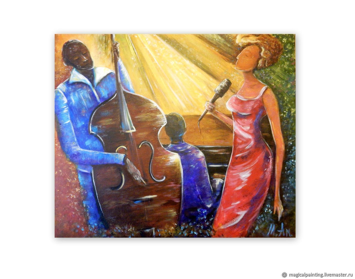 Interior painting 'jazz' 60 by 70 cm, Pictures, St. Petersburg,  Фото №1