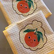 """Для дома и интерьера ручной работы. Ярмарка Мастеров - ручная работа Салфетка """"Апельсиновое настроение"""". Handmade."""
