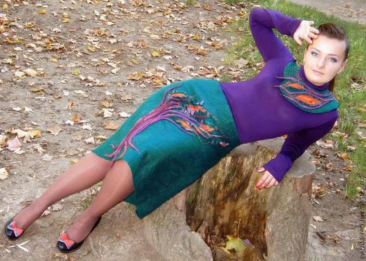 """Юбки ручной работы. Ярмарка Мастеров - ручная работа. Купить Юбка """"Ветер в ветвях"""". Handmade. Юбка, оранжевый"""
