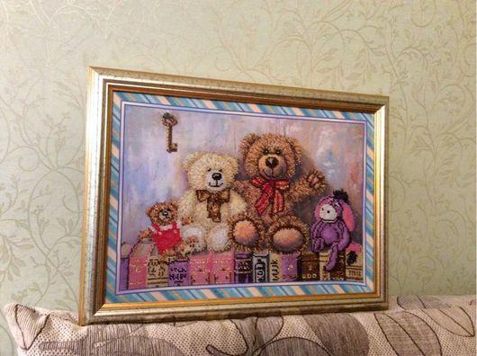 """Детская ручной работы. Ярмарка Мастеров - ручная работа. Купить Картина """"Милые игрушки"""". Handmade. Картина, игрушки, для детей"""