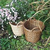 """Для дома и интерьера ручной работы. Ярмарка Мастеров - ручная работа """"Кантри"""" тонированная плетеная корзина. Handmade."""
