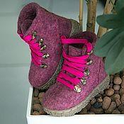 Обувь ручной работы handmade. Livemaster - original item Shoes felted Burgundy melange. Handmade.