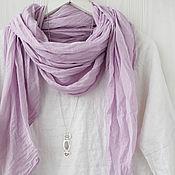 Аксессуары handmade. Livemaster - original item Soft lavender cotton scarf-shawl. Handmade.