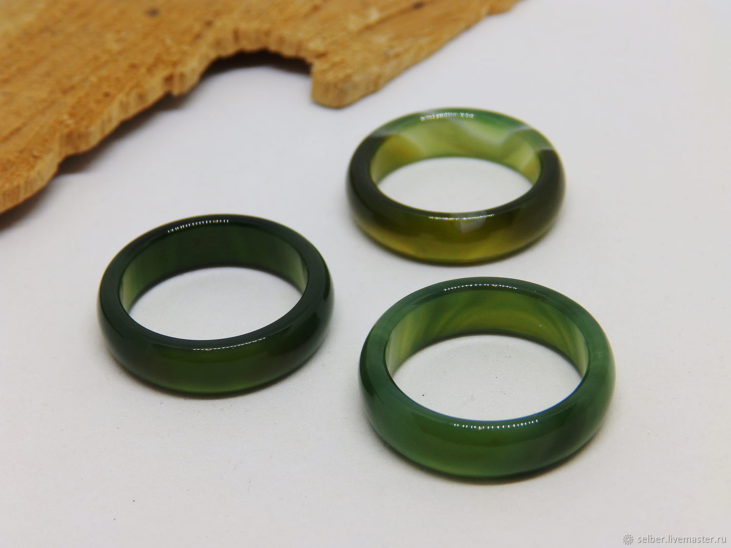 17.5 green agate ring (Mal 17.5), Rings, Gatchina,  Фото №1
