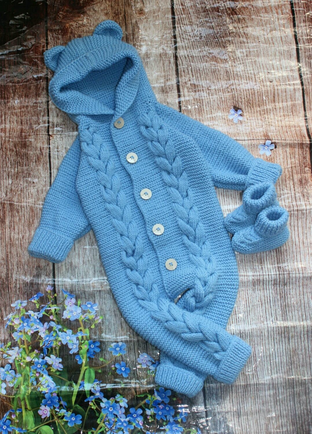 Knitted Romper for kids 'Bear' 80 p, Jumpsuits, Stupino,  Фото №1