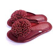 Обувь ручной работы. Ярмарка Мастеров - ручная работа Домашние тапочки Пионы. Handmade.