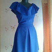 Одежда ручной работы. Ярмарка Мастеров - ручная работа Платье с воланом. Handmade.