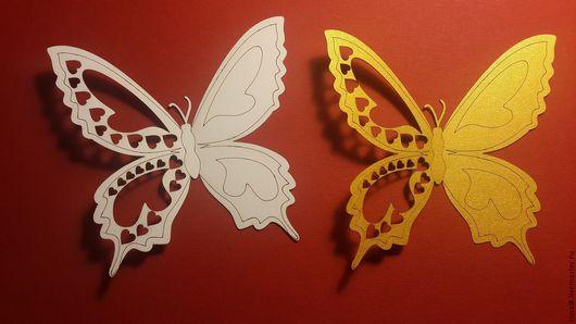 Новый год 2017 ручной работы. Ярмарка Мастеров - ручная работа. Купить Бабочки из дизайнерской бумаги. Handmade. Бабочка, лазерная резка