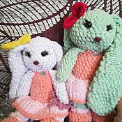 Мягкие игрушки ручной работы. Ярмарка Мастеров - ручная работа Мягкие игрушки: Плюшевые заичики. Handmade.
