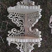 Для дома и интерьера ручной работы. Ярмарка Мастеров - ручная работа Полка угловая 2 яруса R-1099. Handmade.