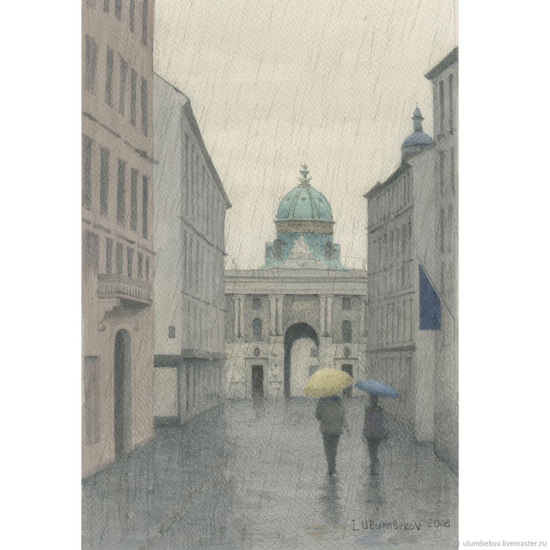 """Плакаты и постеры """"Hofburg"""" акварельный рисунок 30 х 20, Pictures, Moscow,  Фото №1"""