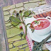 Канцелярские товары ручной работы. Ярмарка Мастеров - ручная работа Кулинарная книга. Handmade.