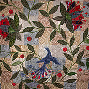 """Для дома и интерьера ручной работы. Ярмарка Мастеров - ручная работа Покрывало """"Райский сад"""". Handmade."""