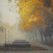 """Картины и панно ручной работы. Ярмарка Мастеров - ручная работа Вышитая картина """"Сказки желтого тумана"""". Handmade."""