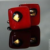 Украшения ручной работы. Ярмарка Мастеров - ручная работа запонки Цвет граната. Handmade.