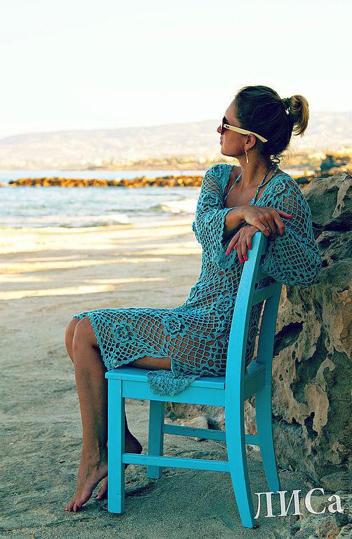 Пляжные платья ручной работы. Ярмарка Мастеров - ручная работа. Купить Туника.. Handmade. Туника, пляжная одежда, хлопок с вискозой
