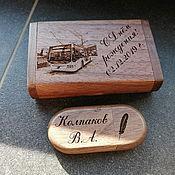 Сувениры и подарки handmade. Livemaster - original item Wooden flash drive with engraving, gift (souvenir). Handmade.