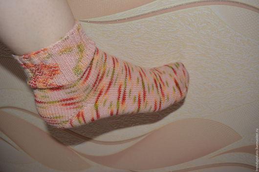 Носки, Чулки ручной работы. Ярмарка Мастеров - ручная работа. Купить Шерстяные носки ручной работы. Handmade. Комбинированный, зима
