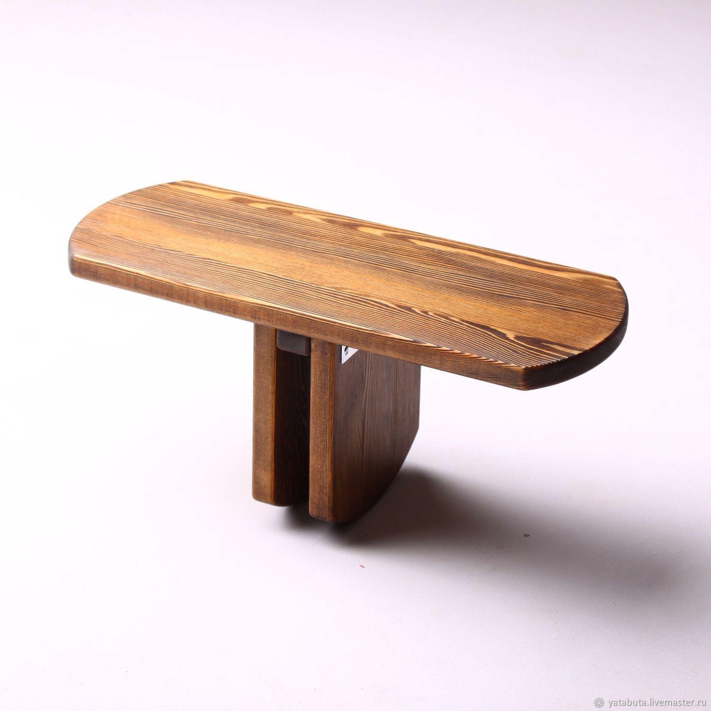 Скамейка для медитации складная из лиственницы, коричневая, Медитация, Москва, Фото №1