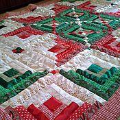 Для дома и интерьера ручной работы. Ярмарка Мастеров - ручная работа Лоскутное одеяло Зимний праздник. Handmade.