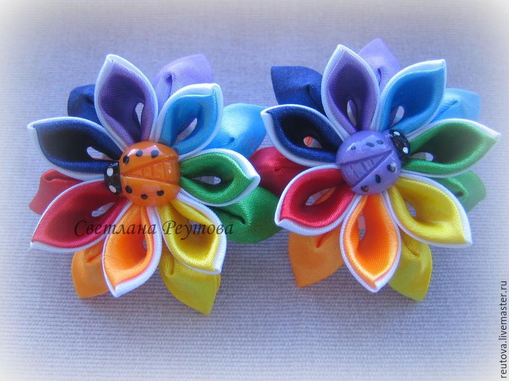 Scrunchie style kanzashi flower-flower 1, Scrunchy, Chernogolovka,  Фото №1