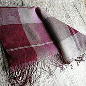 Аксессуары handmade. Livemaster - original item Scarves: Handmade woven scarf linen. Handmade.
