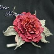 Украшения handmade. Livemaster - original item Leather flowers. Rose leather